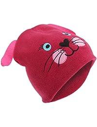 Bonnet tricoté style animal - Fille