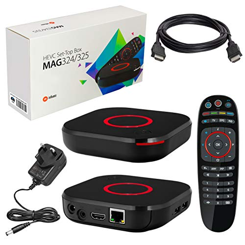 51otaeXrlzL. SS500  - MAG 324 Original Infomir & HB-DIGITAL IPTV SET TOP BOX Multimedia Player Internet TV IP Receiver (HEVC H.256 support…