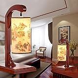 Nouveau chinois classique en peau de mouton antique salon étude chambre chevet bureau lampe@T109 pour envoyer une source de lumière LED_Bouton poussoir