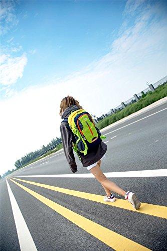 Rucksack draußen wasserdicht Large Kapazität leicht tragbar Sport Rucksack Bergsteigen Tasche Wandern Reiten Multifunktions Pack H49 x L29 x T17 cm Orange