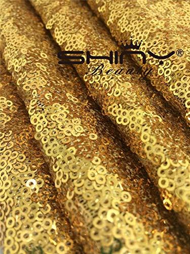 ShinyBeauty 3ftx15ft-aisle Runner Wedding-Gold Sparkly Teppich Läufer für Hochzeit/Weihnachten/Thanksgiving Decor (90x 450cm), Gold, 3FTX15FT