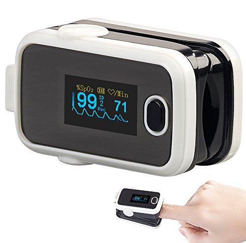 newgen medicals Oximeter: Medizinischer Finger-Pulsoximeter mit OLED-Display und USB-Anschluss (Sauerstoffmessgerät)
