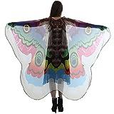 VRTUR Damen Schmetterling Lange Flügel Kap Weich Schal Chiffon Schals Wickeln Nymphe Kostüm Cosplay Karneval Geschenk