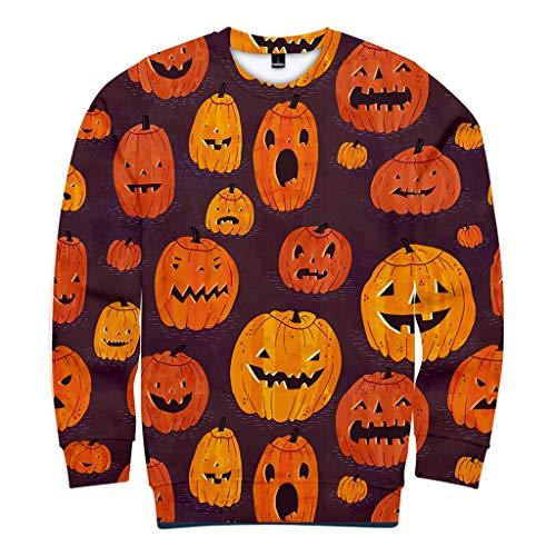 Mann Pooh Kostüm - B-commerce Sweatshirt Herren Hoodie Männer Frauen Sweatshirt Pullover O Neck Top Bluse Skelett 3D Print Langarm Winter Jack The Lantem Kleidung Halloween Kostüm