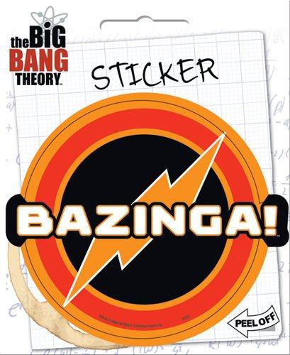 ata-boy Big Bang Theory Bazinga 10,2cm Full Color Aufkleber