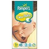 Pampers New Baby Taille 1 (2-5kg) Paquet 3x45 néonatals essentiels par paquet