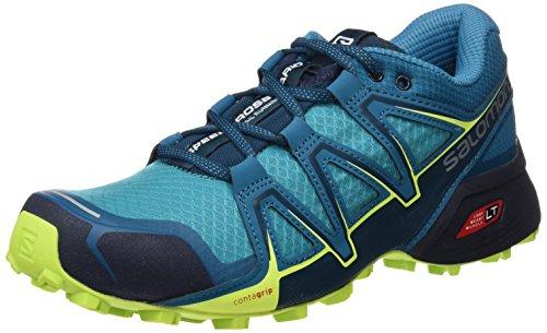 Salomon Speedcross Vario 2 W, Scarpe da Trail Running Donna, Blue Bird/Tahitian Tide/Lime Punch, 36 EU