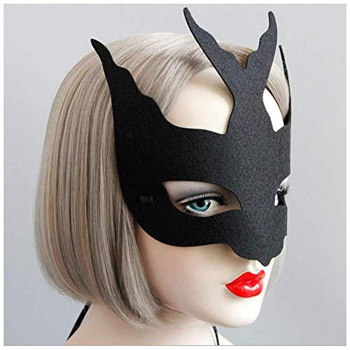 Swallow Grimasse Kreative Halbe Gesichtsmaske Gentleman Schönheit Halloween Weihnachtsfeier COS Kinder Erwachsene Männer Und Frauen ()