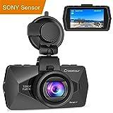 Crosstour Dashcam 1080P FHD Caméra Voiture 170° Grand-angle HDR avec 2 pouce LCD et Capteur de Gravité Enregistreur de Conduite (CR500)