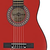 Guitare classique Junior Rouge par Gear4music