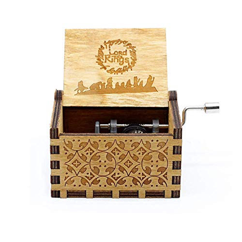ATEZIEU 1PC Holzkrank Harry Potter Music Box, Classic Hedwig Movie Theme Musical CD Melody Songs Boxen,Antique Retro Carved Wood Box Decor Kit (Theme Song Halloween)