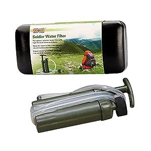 Survival:: Eizur Tragbare Wasserfilter 2000L Wasser Reiniger Luftreiniger Wasseraufbereiter Wasseraufbereitung für Outdoor Survival Wandern Camping Angeln Jagd Reise Trekking Notfall von Eizur
