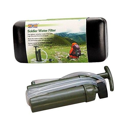 Eizur Tragbare Wasserfilter 2000L Wasser Reiniger Luftreiniger Wasseraufbereiter Wasseraufbereitung für Outdoor Survival Wandern Camping Angeln Jagd Reise Trekking Notfall