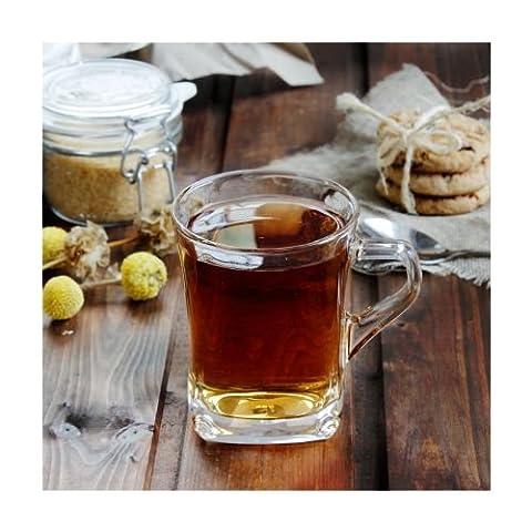 New Set of 2 Glass Coffee/Tea Mugs 250 ml Geo