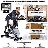 Sportstech Profi Indoor Cycle SX400 mit Smartphone App+Google Street View,22KG Schwungrad,Armauflage,Pulsgurt kompatibel-Speedbike mit Riemenantrieb-Fahrrad Ergometer bis 150Kg