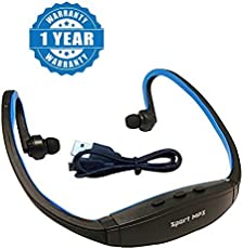 Drumstone W200 Sports MP3 Player with Wireless FM and Micro SD Card Slot for All Smartphones (1stSporty_Blue)