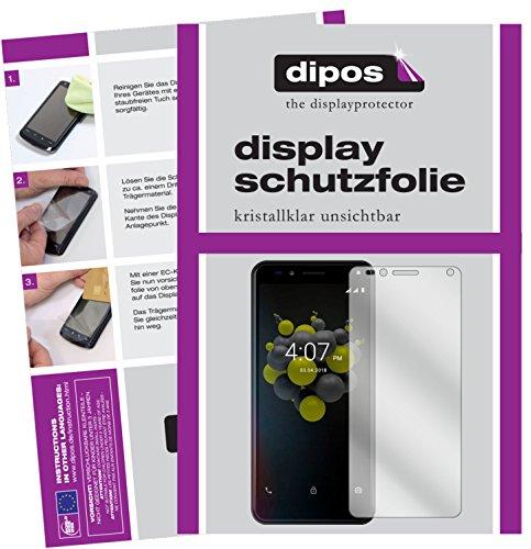 dipos I 2X Schutzfolie klar passend für Allview A9 Plus Folie Bildschirmschutzfolie