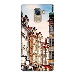 Premium Prague Street Multicolor Print Back Case Cover for Huawei Honor 7
