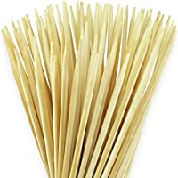 100 extralange Lagerfeuer Grillspieße 90cm x 6mm für Stockbrot, Marshmallows oder Würstchen - Strapazierbare und splitterfreie Bambus Naturholz Spieße / Stöcke - Auch super an Feuerschalen oder Grills - Kinderfreundlich verarbeitet & 100% biologisch abbaubar inkl. Rezeptheft