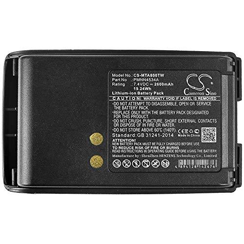 CS-MTA800TW Batería 2600mAh Compatible con [Motorola] mag One A8, mag One  A8D, mag One A8i sustituye PMNN4534A