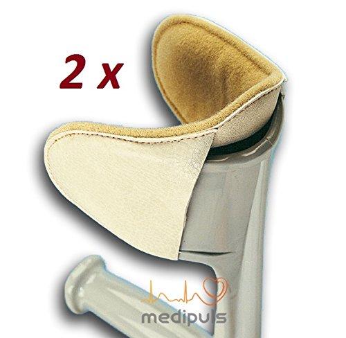 Polster für Gehstütze [2 Stück] Gehhilfe Krücken Unterarmgehstütze - Zubehör gegen Reibung und Druck┇Kissen Puffer für Ellenbogen Unterarm Oberarm (Unterarm Krücke Kissen)
