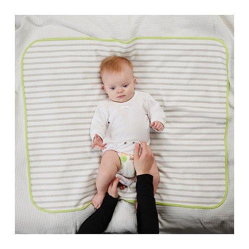 IKEA TUTIG - estera asistencia para los niños, gris, blanco - 90x70 cm