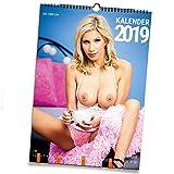 Live-Strip Erotik-Kalender 2019, DIN A3 Wand-Kalender in Farbe und Schwarz-Weiß, Wende-Kalender
