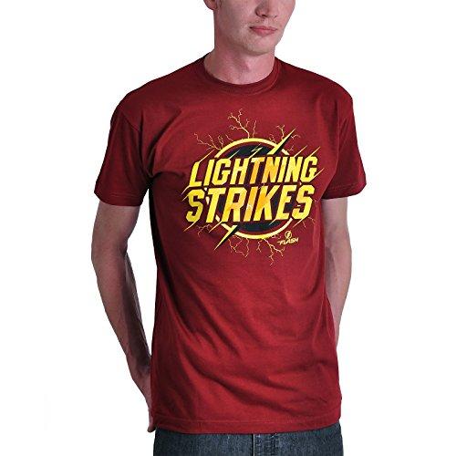 Flash T-Shirt Lightning von Elbenwald Baumwolle Rot Rot