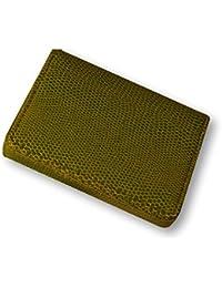 Budd Leather Company Lagarto Impreso piel funda para tarjetas de visita, color verde lima (