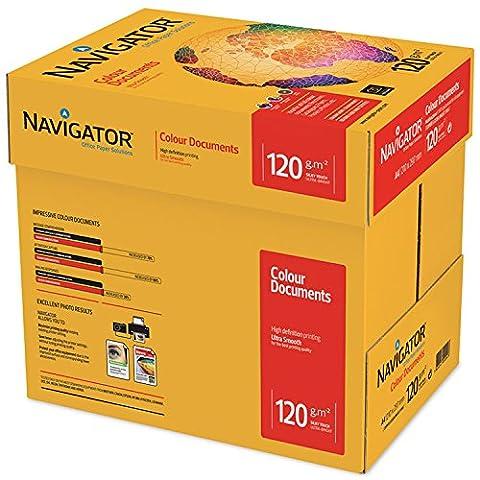 Navigator documents Couleur A4120g/m² Ultra lisse de haute qualité Blanc Boîte de papier, 1250Feuilles