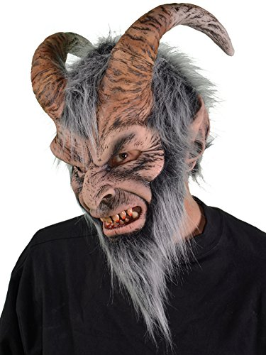 Krampus Costume Mask Adult One Size