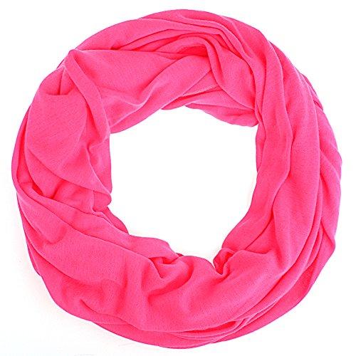 Schlauchschal Uni Damen Frühling/Sommer Damen Tuch Halstuch pink neon