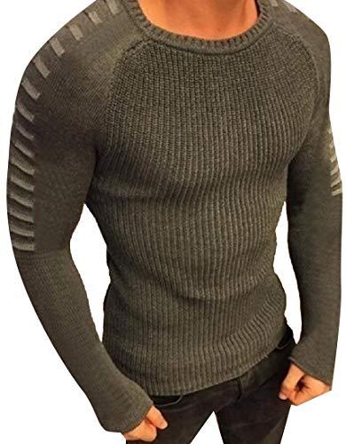 Herren Hipster Langarm Sweatshirt Swag Hip Hop Shirts O Neck Sweater Gr. XX-Small, Army Grün -