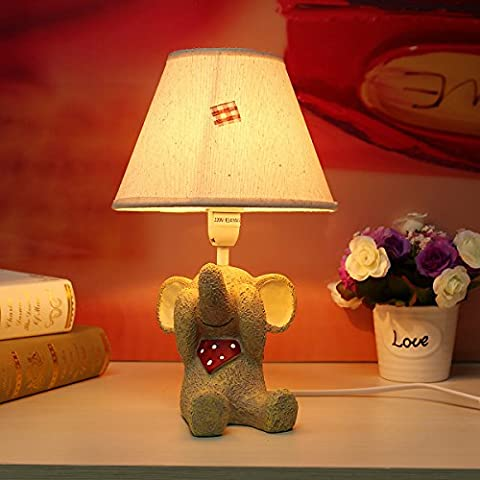Lamp LuckyFine Elephant Bedside Lamps Home Bedroom Watch the Sky No Listen/Look/Talk Craft 01