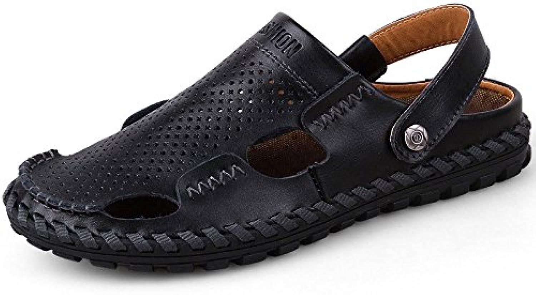 LEDLFIE Sommer Herren Sandalen Strand Schuhe Casual SandalenLEDLFIE Sommer Herren Sandalen Black 40