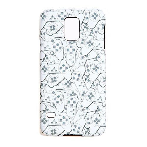Sony Playstation Controller Allover Muster Cover Schutzhülle für Samsung S5-Weiß/Grau Sony Faceplate Case