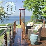TANG SHI Campanelli a vento all'aperto, 92CM 18 campane di vento della lega di alluminio dei tubi per Regalo di compleanno per arredamento da giardino