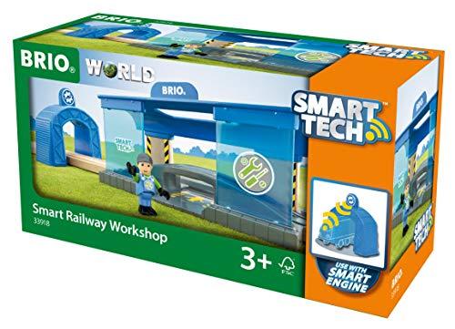 BRIO World 33918 Smart Tech Eisenbahn-Werkstatt