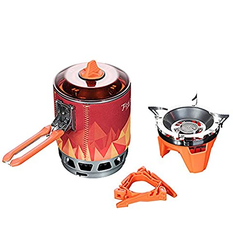 Lordwey® Personal Cooking System, Outdoor Hiking Camping Equipment Oven Portable Gas Stove Burner 1500W 0.8L 600g FMS-X3