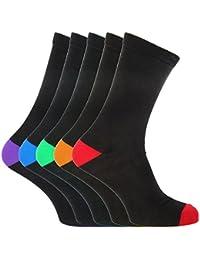 FLOSO - Chaussettes avec talons et orteils en contraste (5 paires) - Homme