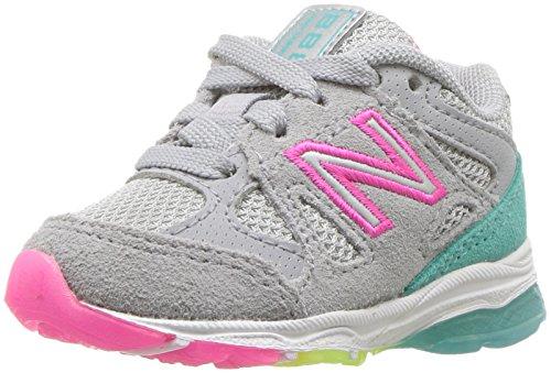New Balance Grade School KJ888V1G Kinder Schuhe, 37.5 EUR - Width XW, Silver Mink/Rainbow (Balance Xw Kinder New)