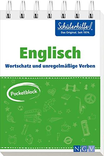 Pocketblock Englisch - Wortschatz und unregelmäßige Verben: Gute Noten mit der Schülerhilfe