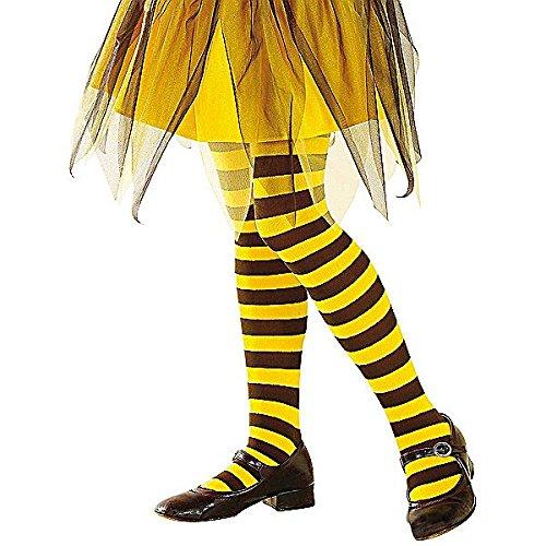 e Mädchen Biene - Schwarz, Gelb - 1-3 Jahre - 70 DEN (Biene Mädchen Kostüm)
