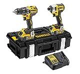 DeWalt DCK266P2-QW - Kit XR con taladro percutor a bateria DCD796, atornillador de...