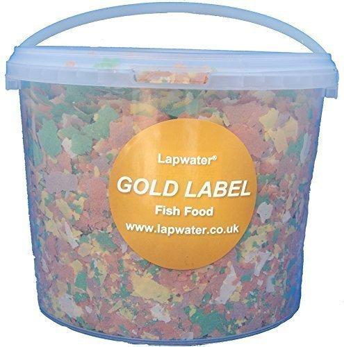gold-label-value-aquarum-goldfish-koi-pond-fish-flake-food-3000ml-3-litre-tub