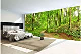 Malilove 3D Wallpaper Custom Und Seide Wandbild Sonnigen Waldweg Landschaft Dekoration Malerei Fototapete Für Wände 3D300X210CM
