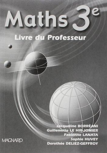 Classeur maths troisième (livre du prof + 27 transparents + livret d'utilisation) par Collectif