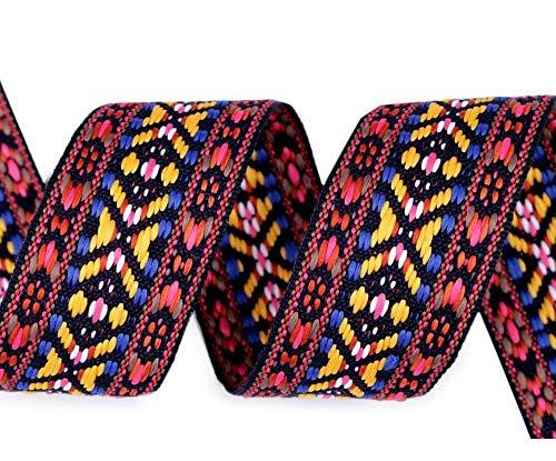 10m Multicolor Indianer Webband/Gurtband Breite 38mm, Webbänder Indianisch, Besatzbänder, Trachtbänder Und Paspelbänder, Kurzwaren -