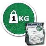 @tec Farbpigmente für Beton, Gips, Putz - Pigmentpulver, Eisenoxid, Oxidfarbe, Trockenfarbe - 1kg - Farbe: grün