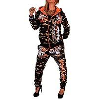 Tuta da jogging da donna, con canapa con marsupio in pelle con pantaloni da allenamento Uomo Suit Design in 100% cotone, con cappuccio e polsini, S alla XXL